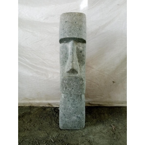 Estatua de piedra volcánica Isla de Pascua Moái 60 cm