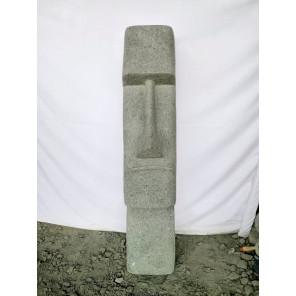Estatua de piedra volcánica Moái rostro alargado 120 cm