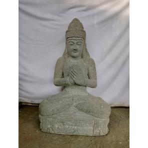 Estatua diosa Dewi Sri sentada decoración zen 100 cm