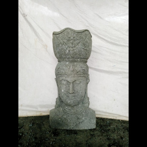 Estatua exterior macetero diosa balinesa de piedra volcánica 80 m