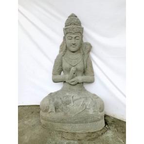 Estatua exterior rostro diosa balinesa de piedra volcánica 120 cm