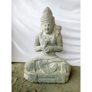 Estatua exterior zen diosa balinesa posición chakra 80 cm