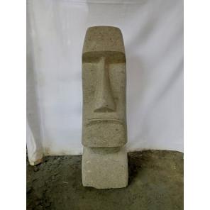 Estatua Isla de Pascua Moái de piedra natural 60 cm