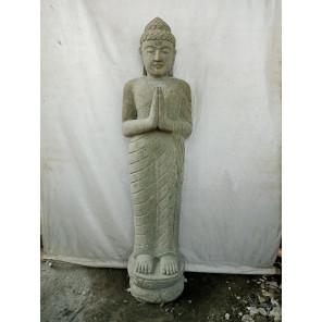 Estatua jardin de piedra Buda de pie rezo 1,50 m