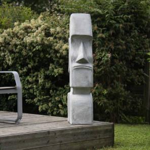 Estatua Moái Isla de Pascua jardín zen 1,20 m