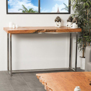 Farm wood and metal console table 127