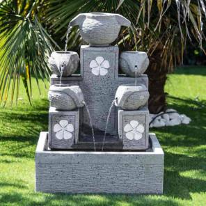 Fuente de jardín cascada 5 copas 90 cm