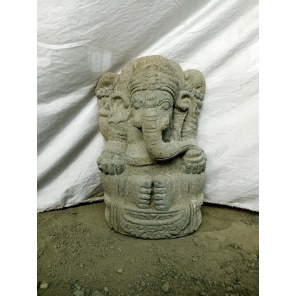 Ganesh volcanic rock garden statue 50 cm