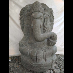 Ganesh volcanic rock garden statue 90 cm