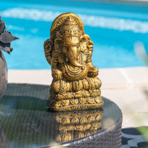 Gold-coloured Ganesh statue 40 cm