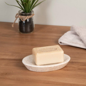 Jabonera de mármol crema