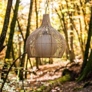 Lámpara de techo de mimbre 41 cm