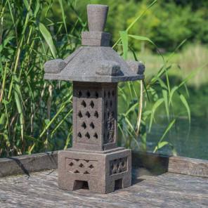 Jardin clairage fontaine jardini re mur d 39 eau galet for Lampe japonaise exterieur