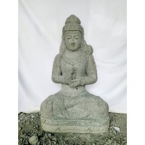 Large zen Balinese goddess stone garden statue 1 m
