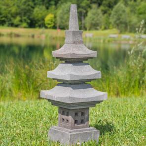 Lava stone pagoda Japanese lantern 90 cm