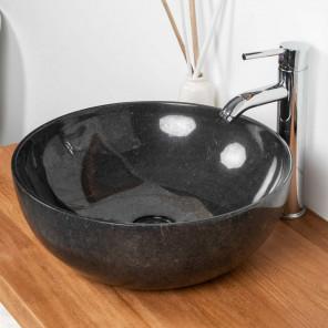 lavabo encimera de mármol negro cuarto de baño LEA 40 CM