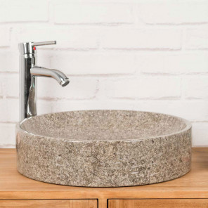 lavabo encimera para cuarto de baño de mármol Mino gris