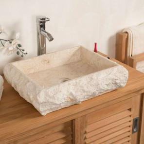Lavabo sobre encimera de mármol