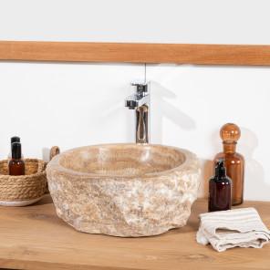 lavabo sobre encimera para cuarto de baño de piedra ónix 30-35 cm