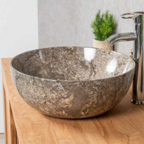 Lea grey marble countertop sink 40 cm