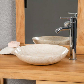 Lysom cream countertop bathroom sink 35 cm