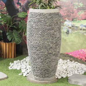 Maceta tiesto jardinera ovalada de piedra 100 cm