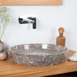 Malo grey marble countertop bathroom sink 45 cm