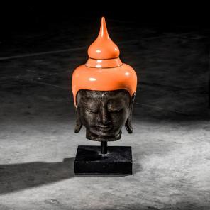 Medium orange Buddha head - 58 cm