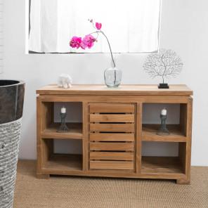Mueble cómoda aparador para cuarto de baño de teca maciza 120 cm