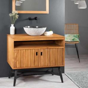 Mueble de teca para cuarto de baño MYA 90 CM