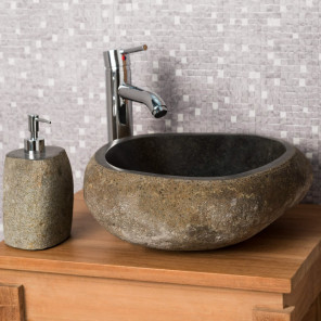 river stone sink 30 cm