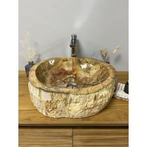 Petrified wood countertop sink 46 cm