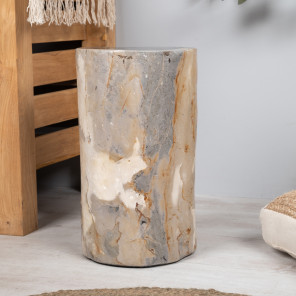 Petrified wood pouffe