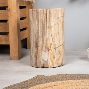 Petrified wood stool 40cm