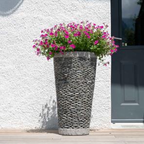 pot galet conique 80cm  jardin extérieur zen