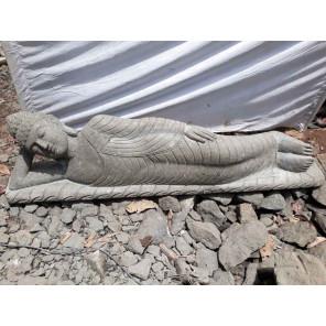 Reclining Buddha volcanic rock garden poolside statue 2 m