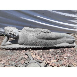Reclining Buddha volcanic rock statue 155 cm