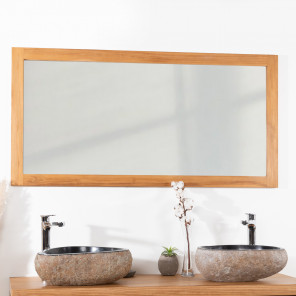 teak mirror 140 cm