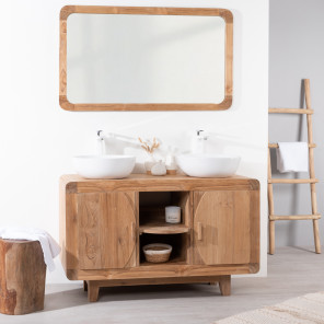 Retro teak bathroom vanity unit 120 cm