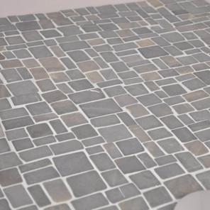Revestimiento mosaico de piedra mármol gris