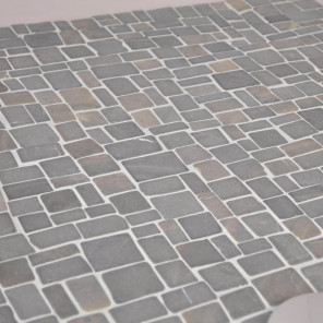 Revêtement mosaïque en marbre naturel gris noir