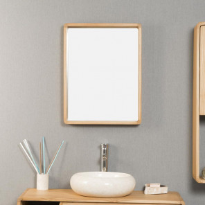 Samba teak bathroom mirror 50 x 65 cm