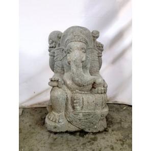 Statue de Ganesh en pierre de jardin 50 cm
