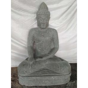 Statue de jardin Bouddha en pierre position offrande 1m01