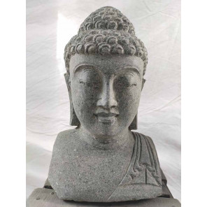 statue visage bouddha ou visage de d esse statue de jardin en pierre naturelle. Black Bedroom Furniture Sets. Home Design Ideas