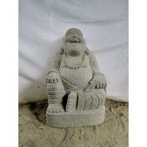 Statue de jardin en pierre HAPPY BOUDDHA 60 cm