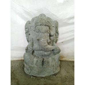 Statue de jardin en pierre volcanique Ganesh 50 cm