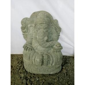 Statue de jardin extérieur en pierre Ganesh de 50 cm