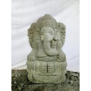 Statue divinité GANESH en pierre volcanique 80 cm