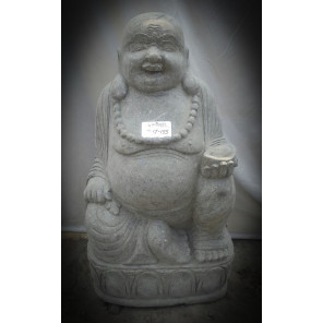 Statue en pierre de lave BOUDDHA RIEUR 105 cm
